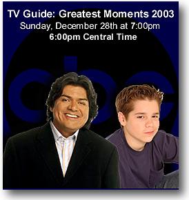 Ryan Pinkston, TV Guide: Greatest Moments 2003, Fake Id Club, George